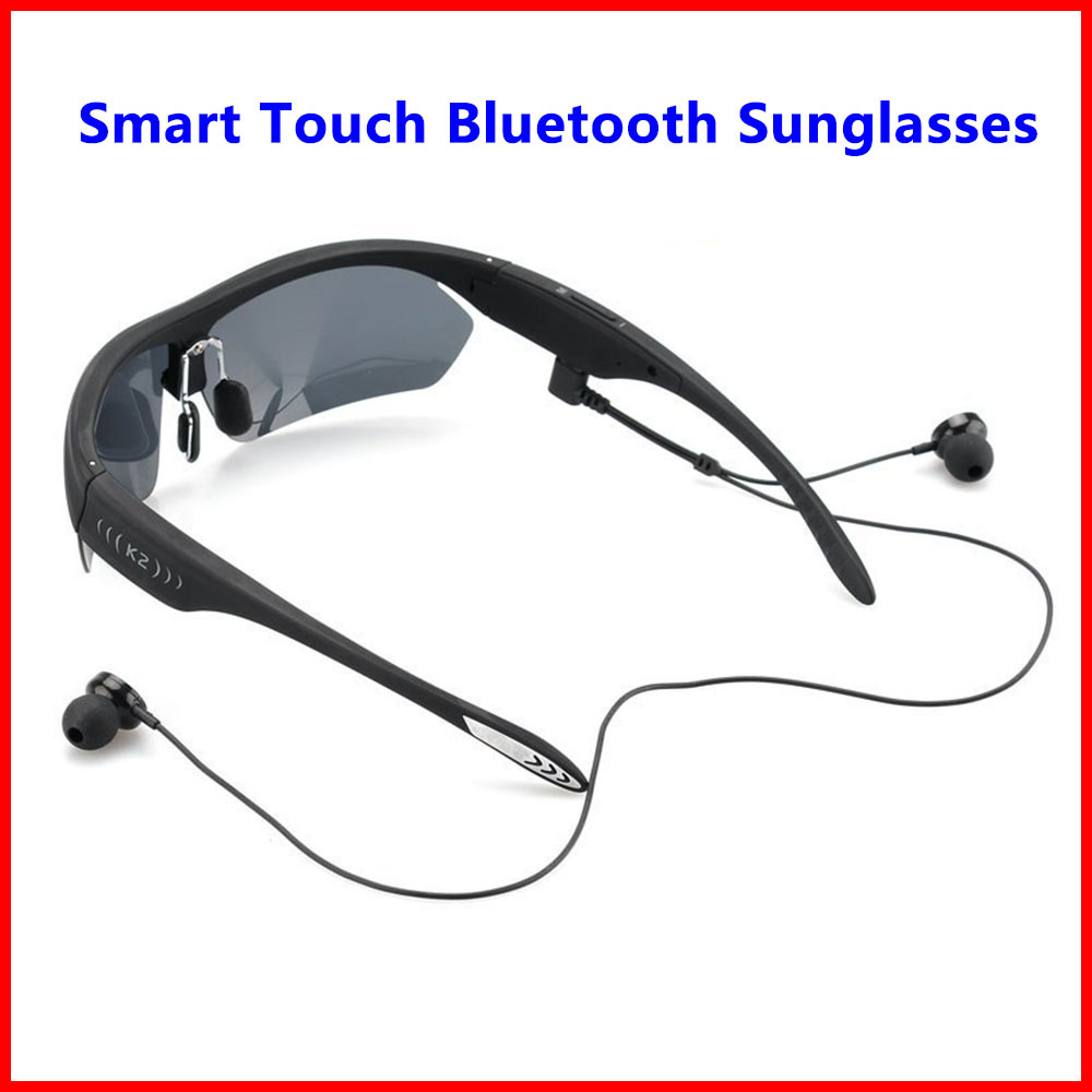 K2 Smart Touch Polarized Sunglasses Bluetooth 4.0 Stereo Headphone Headset Voice Control w/ Mic For iPhone Samsung LG Xiaomi HTC bluetooth sunglasses sun glasses wireless bluetooth headset stereo headphone with mic handsfree for iphone samsung huawei xiaomi