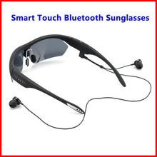 K2 Smart Touch Polarized Sunglasses Bluetooth 4.0 Stereo Headphone Headset Voice Control w/ Mic For iPhone Samsung LG Xiaomi HTC(China)