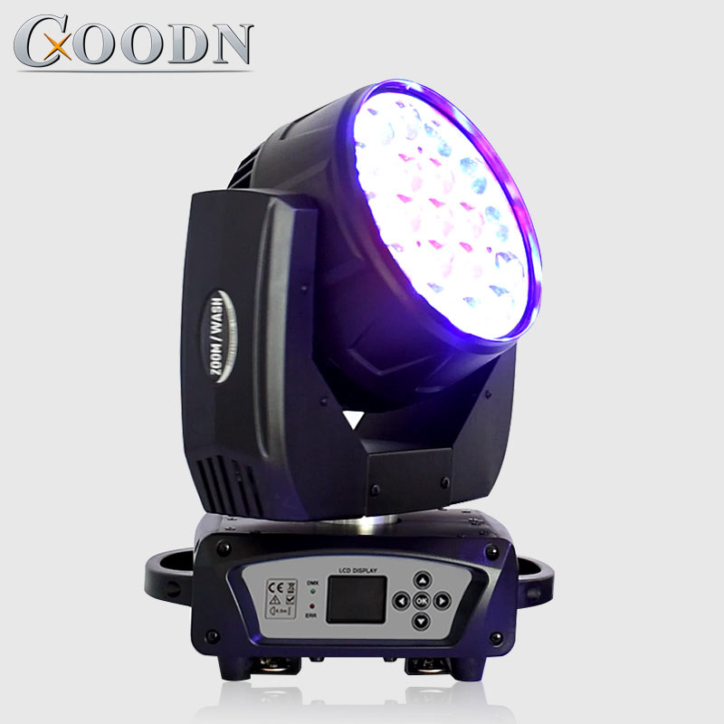 Zoom Wash Led 19x15w Rgbw Led Zoom Beam Eyes Moving Head Light Of Stage Effect