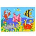 Ímã De Peixe Peixe De Madeira Brinquedos Puzzle Brinquedo de Pesca magnética Placa de Jogo De Pesca & Placa de Quebra-cabeças Para Crianças Juguetes