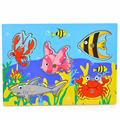 Magnetic Fishing Toy Fish Magnet Wooden Fish Toys Jigsaw Puzzle Board Juguetes Fishing Game & Jigsaw Puzzle Board For Children