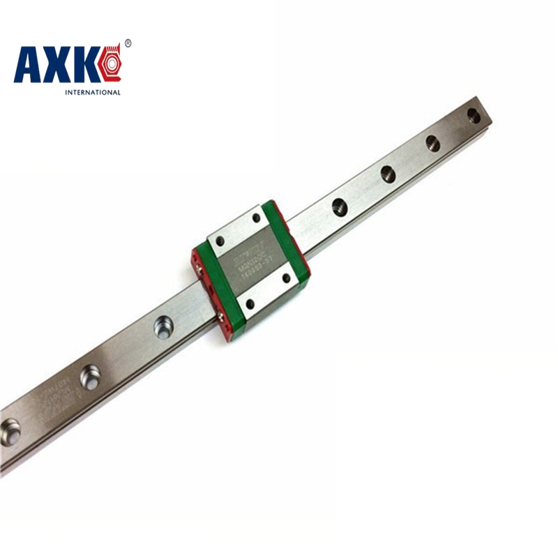 AXK MR12  linear rail guide MGN12 length 500mm with mini MGN12H/MGN12C linear carriage miniature linear motion guide way for cnc axk mr12 miniature linear guide mgn12 long 400mm with a mgn12h length block for cnc parts free shipping