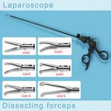 Лучшие Медицинские лапароскоп биопсии изгиб разделительного щипцы для хирургических инструментов лапароскоп training, щипцы, ножницы