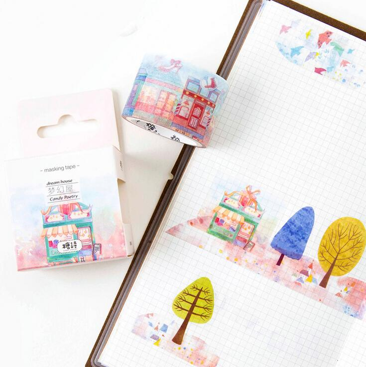Tapes, Adhesives & Fasteners Sweet-Tempered 24 Pcs/lot My Little Dream House Washi Tape Diy Scrapbooking Sticker Label Masking Tape School Office Supply Office & School Supplies