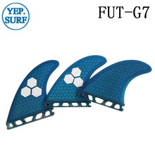 Future G7 Surfing Fins Fiberglass Honeycomb Blue Color Customized Surfboard