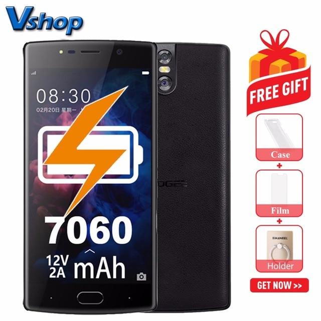 Original DOOGEE BL7000 4G teléfonos móviles Android 7,0 4 GB + 64 GB Octa Core Smartphone 1080 p Dual a cámaras de 5,5 pulgadas del teléfono celular