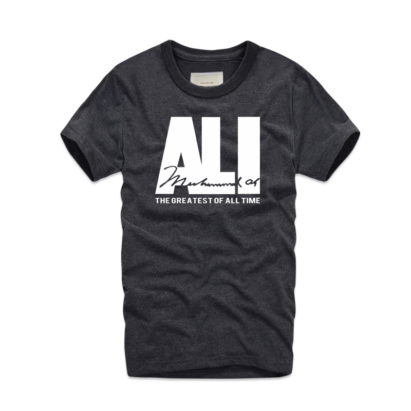 2018 Fashion Brand Mens MUHAMMAD ALI   T     Shirts   Street Fitness MMA Short Sleeve   T     Shirt   Printed Fight Champ Retro   Shirt   Top Tees