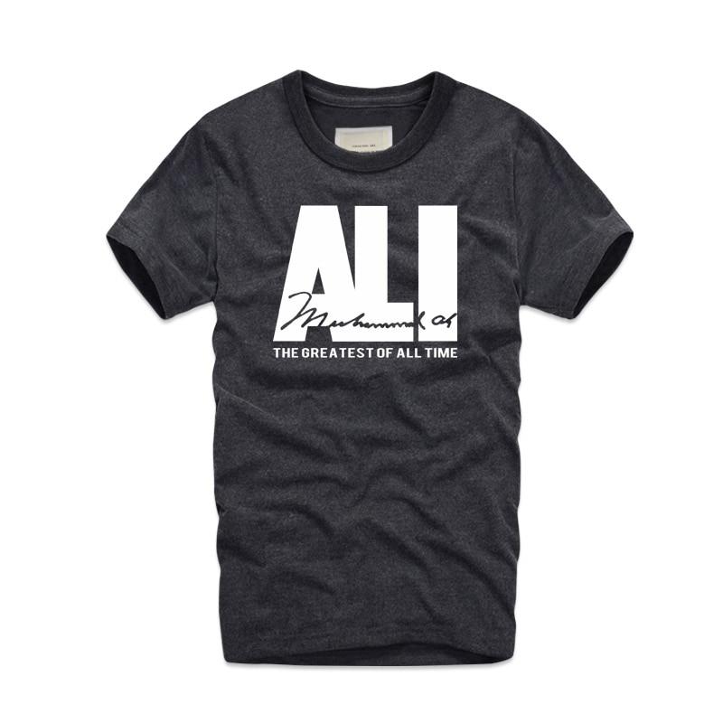 2019 Fashion Brand Mens MUHAMMAD ALI T Shirts Street Fitness MMA Short Sleeve Sport Workout Fight Champion Retro Shirt Top Tees