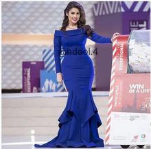2017 Sexy Dubai Saudi-arabien Abendkleid Abendkleid Meerjungfrau blau Scoop Satin Neue Ankunft Preiswerte Lange Abschlussball-kleider Party kleid