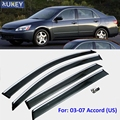 FIT FOR 2003-2007 HONDA ACCORD 4-DR SIDE WINDOW RAIN DEFLECTORS GUARD VISOR WEATHERSHIELDS DOOR SHADE ACCESSORIES