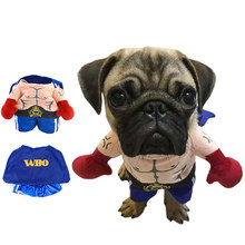 Funny Halloween Pet Cat Dog Boxer Standing Costume Cosplay Clothes For Small Medium Dogs Puppy Party Jacket Coat Clothing(China)