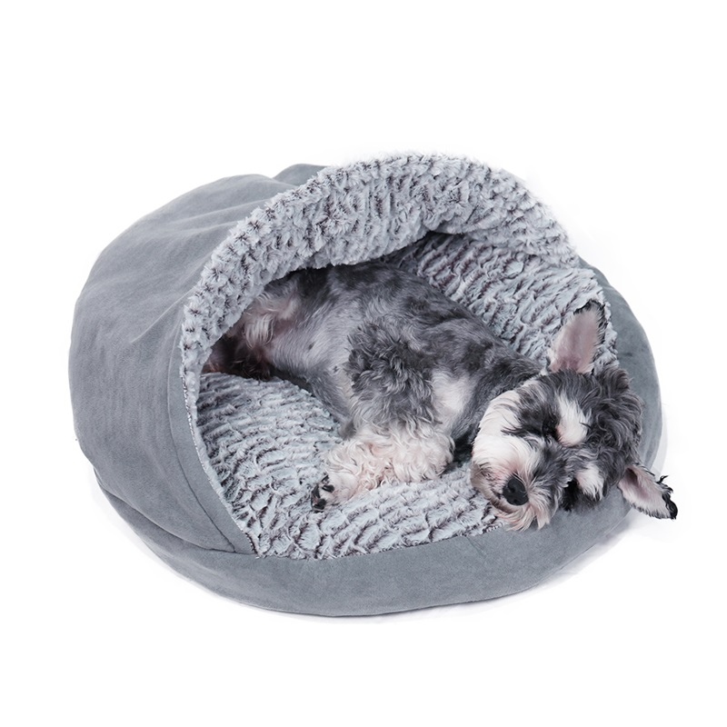 luxury pet c pet orthopedic ultra plush velvet round pet bed for dogs cats
