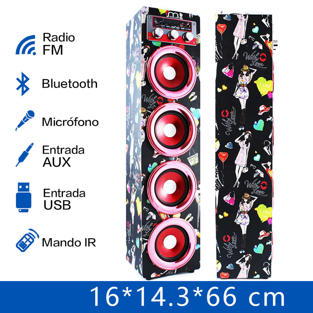 Bluetooth Speaker Karaoke Wireless Handsfree with Microphone FM Radio MP3 Portable speaker tower for party BBQ