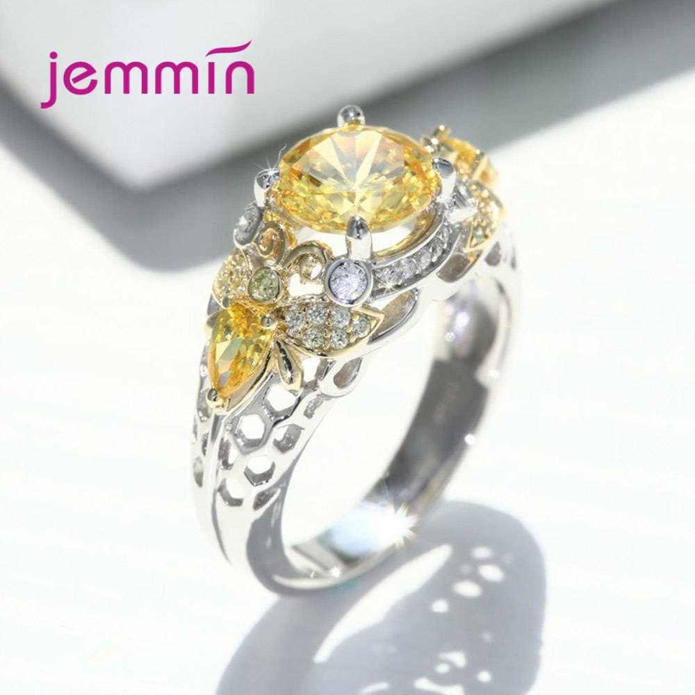 Moda koreański kobiety obrączki 925 srebro elegancki wygląd Knuckle CZ Cubic cyrkon biżuteria Ring Finger