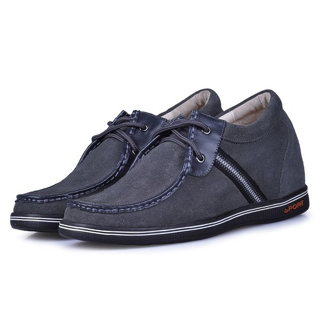 9261-New style men's grey casual height increasing shoes on sale