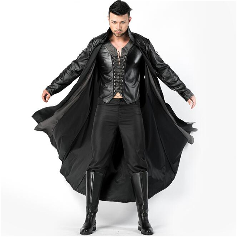 Deluxe Men Ferocious Vampire Costume Halloween Fancy Adult Cosplay Clothing