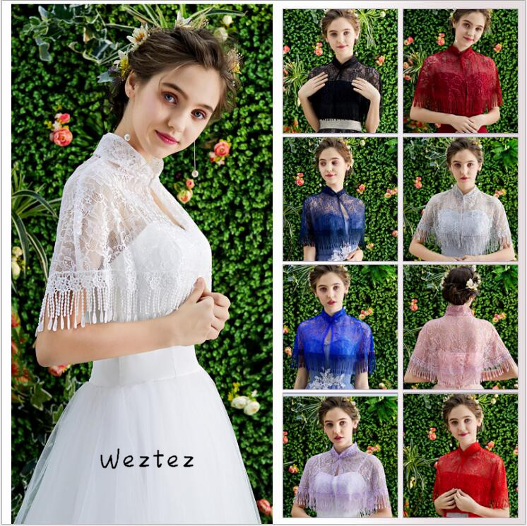 Bride Shawl Color Dress Veil Thin Section Etiquette Shoulder Yarn Leader Jacket Wedding Accessories PJ16