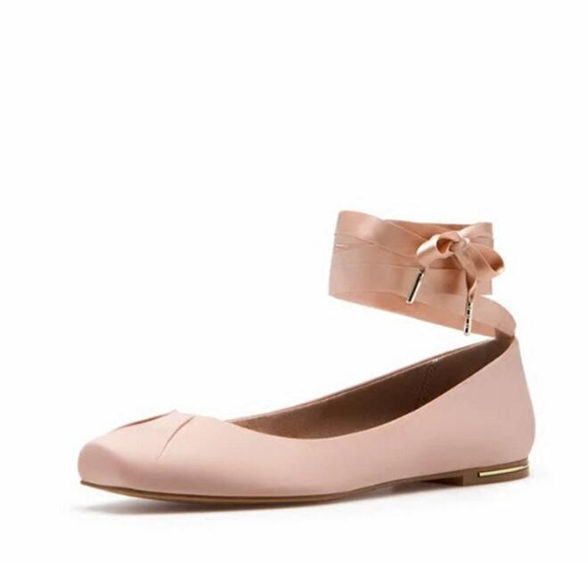 real picture 2017 round toe women shoes cross-tied ballet flats pink black Comfortable shoes women fashion casual shoes ladies black women flats light weight new design women casual shoes wearable comfortable ladies working shoes aa10129