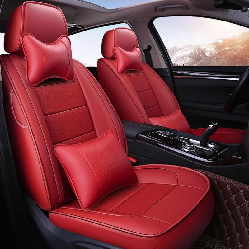 Housse de siège de voiture en cuir sur mesure pour VOLVO XC70 S60 S80 XC60 V40 V60 C30 C70 XC90 Buick Encore accessoires de voiture de crosse