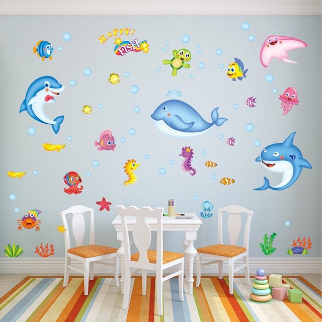 Diy Magische Unterwasserwelt Kinder Baby Zimmer Kindergarten Vinly