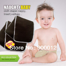Free Shipping Charcoal Bamboo 200pcs 5 Layers(3+2) Reusable Baby Infant Cloth Diaper Changing pads Nappy Diapers Inserts