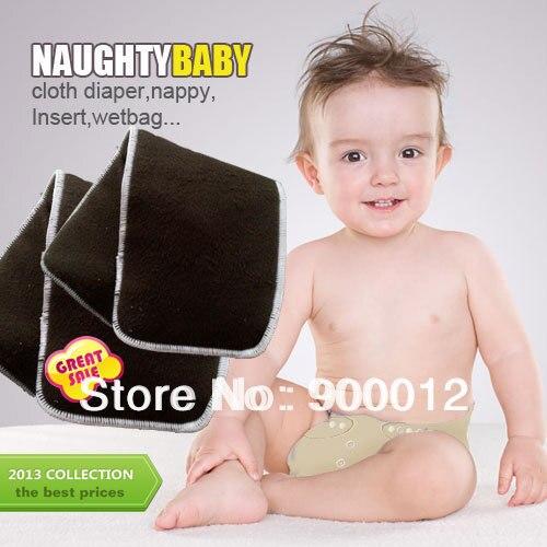 e8ba4d00a95 Gratis Pengiriman Arang Bambu 200 pcs 5 Layers (3 + 2) Popok Kain Reusable  Bayi Bayi Mengubah pads popok Popok Sisipan