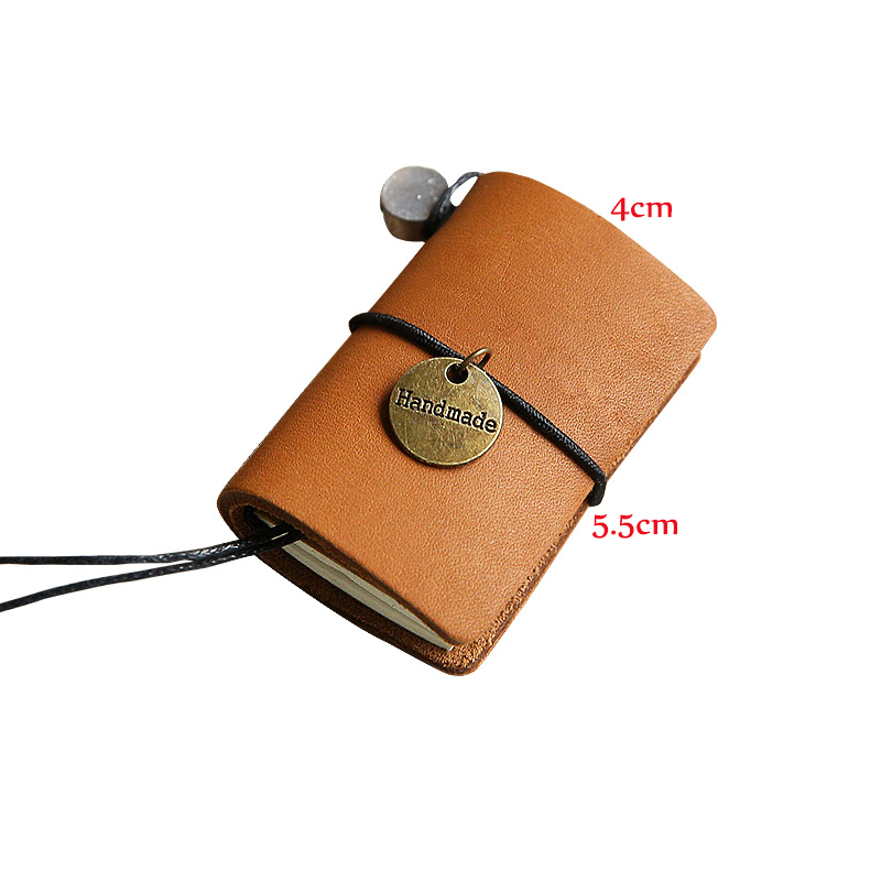 Mini Notebook Faux Leather Traveler's Notebook Retro Leather Calendar Diary Notebook Cute Handbook 2017 Creative Stationery calendar 2017 a5 calendar handbook of efficiency for industry and commerce business notepad log can be customized logo