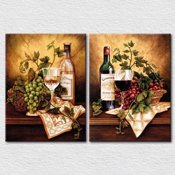 Frutta e verdura fresca vino quadri su tela per la cucina ...
