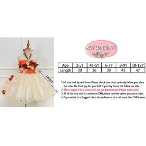 Image 5 - Платье принцессы, пачка Моаны для девочек, вечерние платья на день рождения, детские кружевные тюлевые платья с цветами для девочек, Детский карнавальный костюм на Хэллоуин