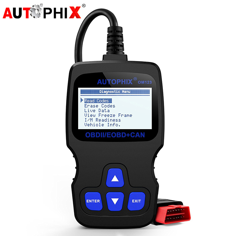 Autophix OM123 OBD2 Diagnostic Scanner OBDII EOBD ODB CAN Automotive Scan Engine Fault Code Reader for Car Diagnosis Scan Tool