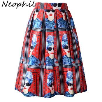 Neophil 2020 летняя Европейская мода для девочек, красная плиссированная пачка с высокой талией, плиссированная юбка средней длины, S0905