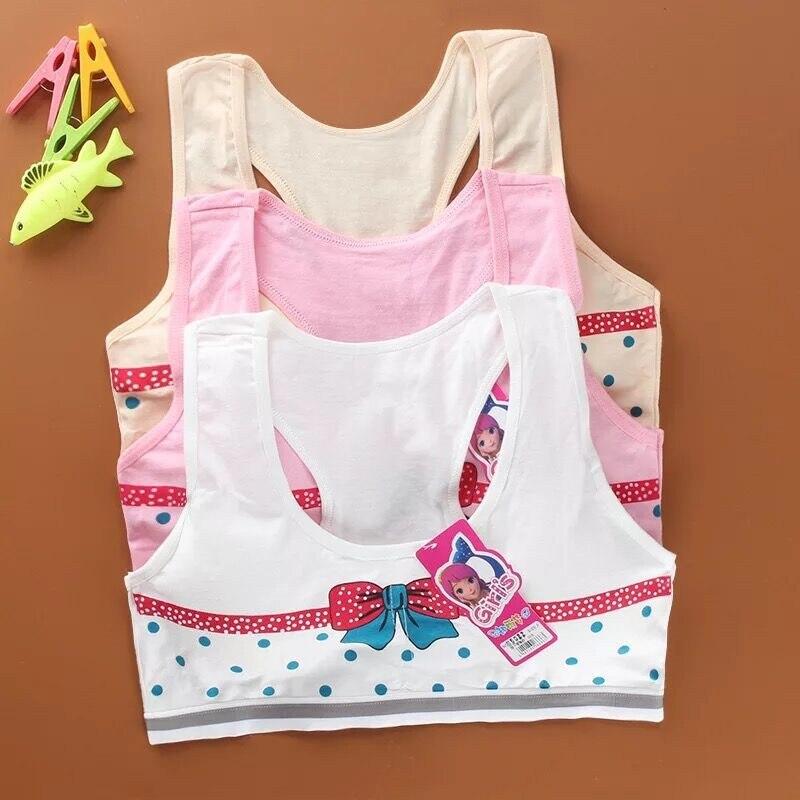Children Girl Bra Underwear For Puberty Girls Children's Tops Printing Waist Kids Underwear Bra Vest Children Teenage Clothing
