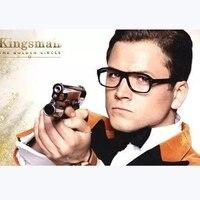 Kingsman Cutlers&Grosses Glasses Retro eyeglass frame black square acetate eyewear for fashion glasses with clear lenses