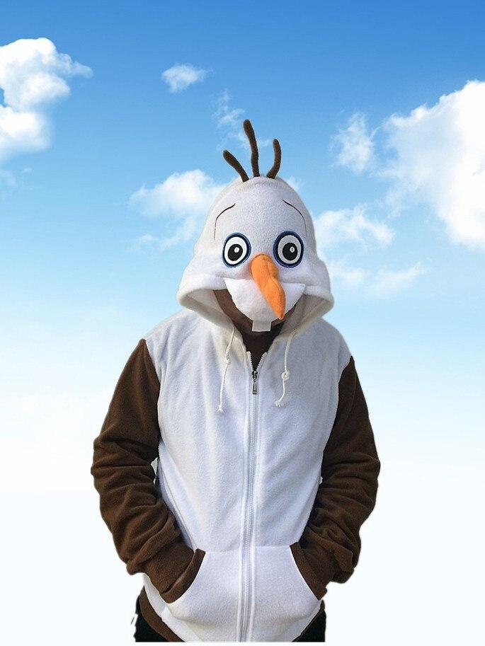 Spring New Hot Movie Hoody Cute Snowman Olaf Hoody White Sweatshirt Girls Ctue Design Spring Fall