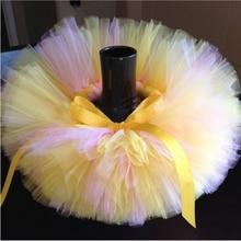 In Stock Kids Girl Skirts Rainbow Handmade Tutu For Princess Baby Birthday Party Photography
