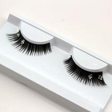 1 pairs XZ034 end of eye lengthened wedding photography art of theatrical design diamond exaggerated false eyelashes