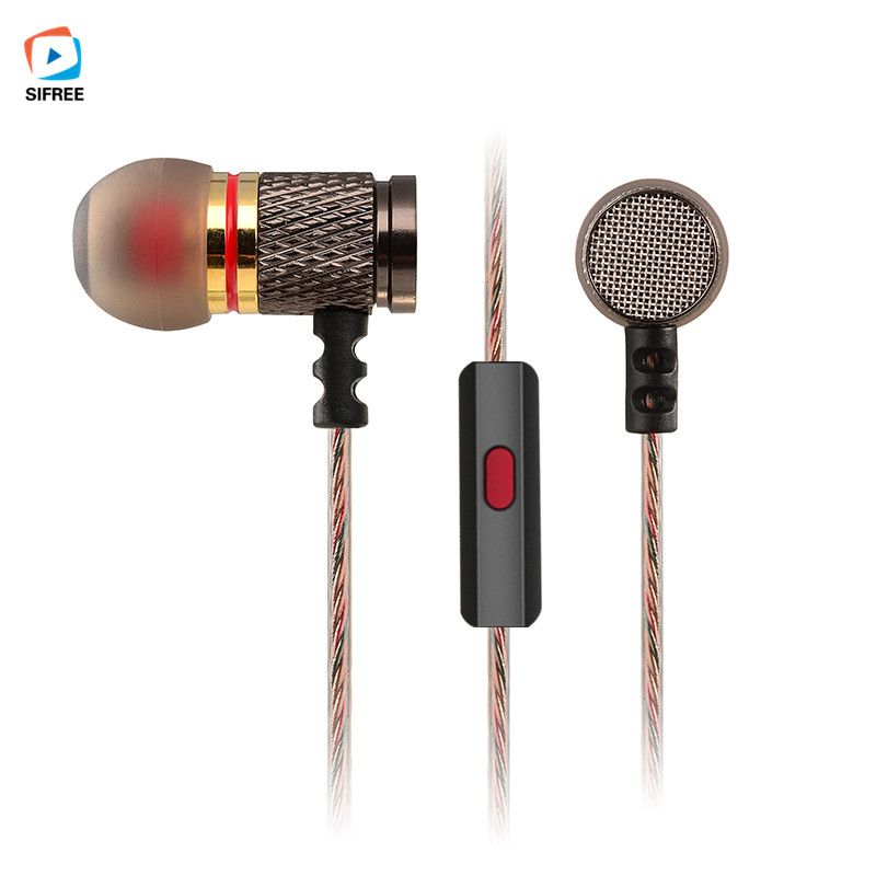 New KZ-ED2 Professional In-Ear Earphone Metal Heavy Bass Sound Quality Music Earphone Headset For smartphone with Mic em290 copper wire earphone in ear with mic clear 3d sound quality handsfree call for android ios smartphone oppo xiaomi mp3 pc