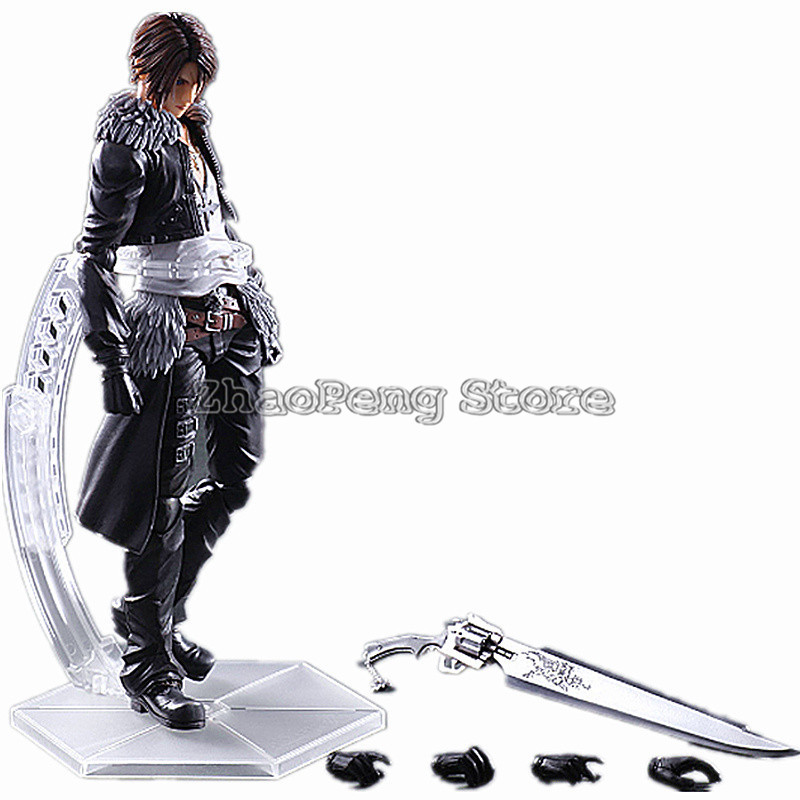 28CM PLAY Arts Kai game Final Fantasy VIII 8 Squall Leonhart PVC Action Figure Collectible Model Toy B94