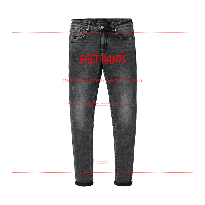 Image 2 - SIMWOOD 2020 spring  New Scratched Jeans Men Classic Casual Jeans