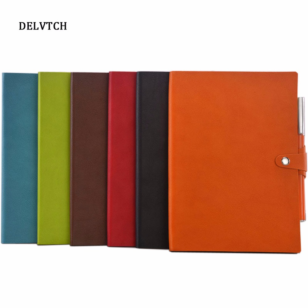 DELVTCH Business Stationery 6colors Office Notebooks Diary Journal Sketchbook Refill Paper Creative trend Notebook Gift