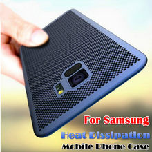 Heat Dissipation Case For Samsung A20 A20E A2 CORE A30 A40 A50 A70 Galaxy M20 M30 S10 J4 J6 A6 A8 Plus A7 2018 Hollow Back Cover(China)