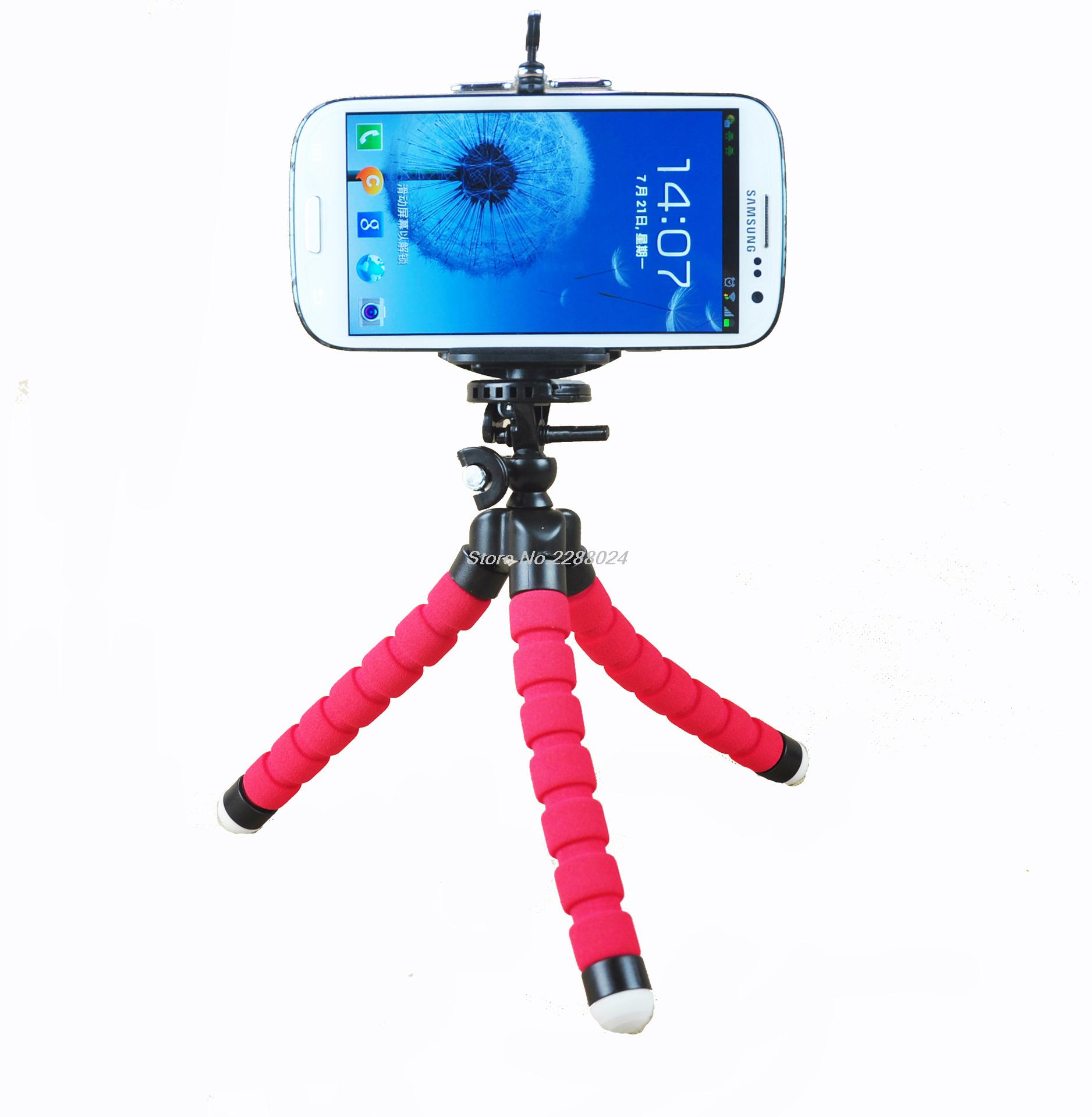 Hot Sale Car Phone Holder Flexible Octopus Tripod For Samsung Galaxy J1 Mini J105f/ J120/ J510/ J310/J710 2016 J3 J5 J7 C5 C7