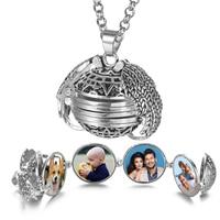 Magic 4 Photo Pendant Memory Floating Locket Necklace Angel Wings Flash Box Fashion Album Box Necklaces for Women VA-2017 1