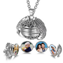 Magic 4 Photo Pendant Memory Floating Locket Necklace Angel Wings Flash Box Fashion Album Box Necklaces for Women VA-2017(China)
