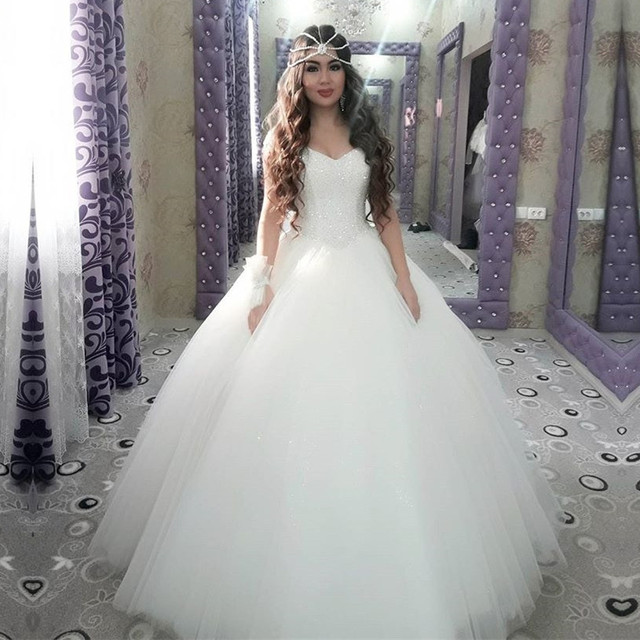 Bling Sequins And Beaded Sweetheart Drop Waist Wedding Dress Ball Gowns