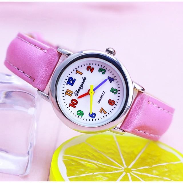 New brand Fashion kids lady watch Quartz student WristWatch hours clock student