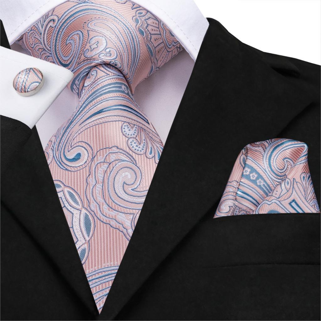 Pink Wool Tie Set //Wedding Ties //UK Blush Pink Necktie and Pocket Square Set