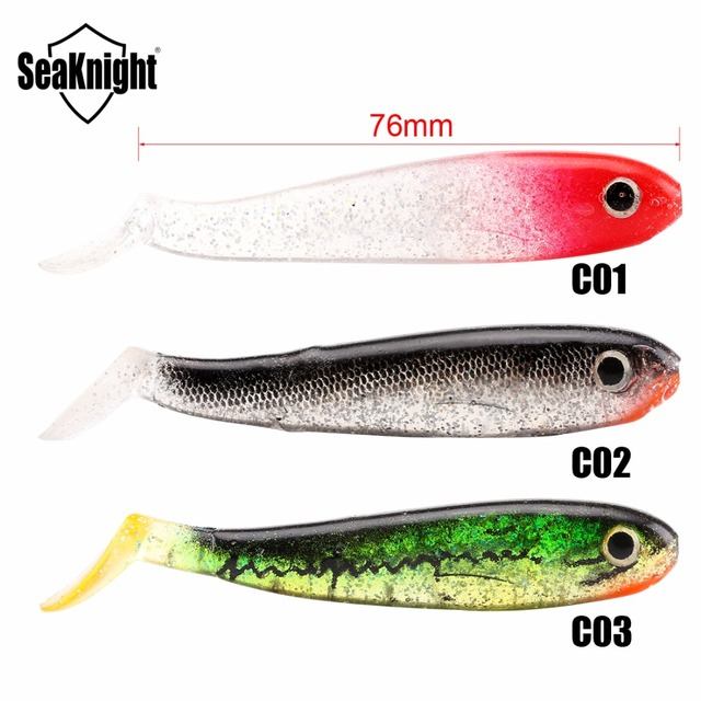 SeaKnight Soft Lure SL013 18Pcs Assorted Color