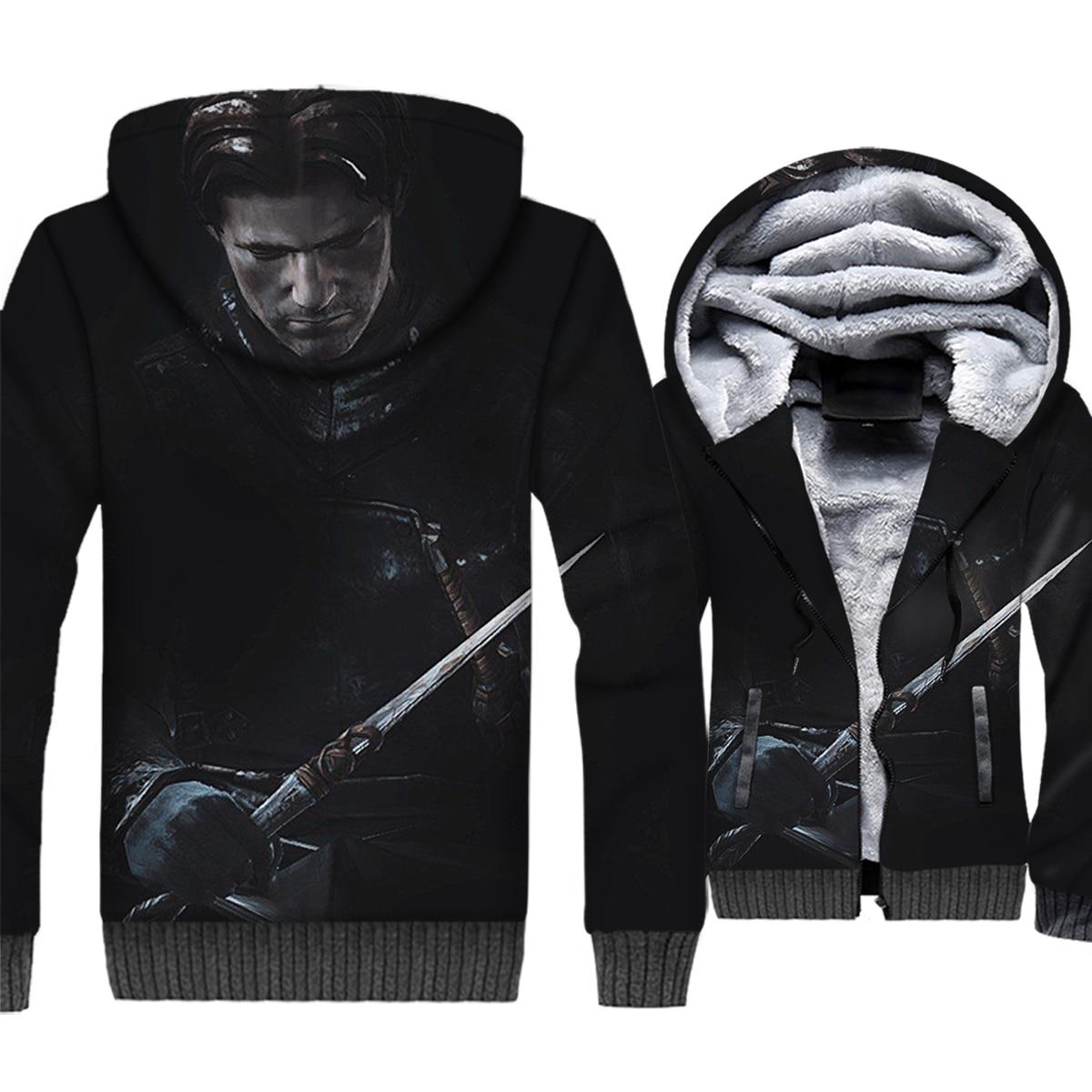 Game of Thrones 3D Print Hoodie Men Brienne House Lannister Jaime Lannister Sweatshirt Winter Thick Fleece Coat Tormund Jacket