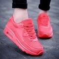 Воздуха Обувь Мужчин Повседневная Спортивная Дышащий Высота Увеличение Обувь Для Ходьбы Любителей Тренеров Корзина Femme Zapatillas Красный Досуг